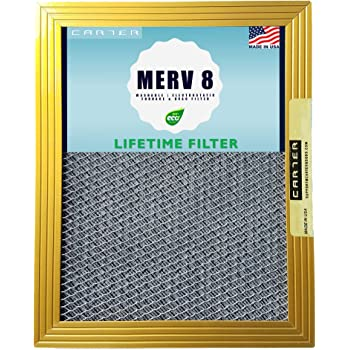 20x25x1 CARTER | MERV 8 | Lifetime HVAC & Furnace Air Filter | Washable Electrostatic | High Dust Holding Capacity | Never buy another filter