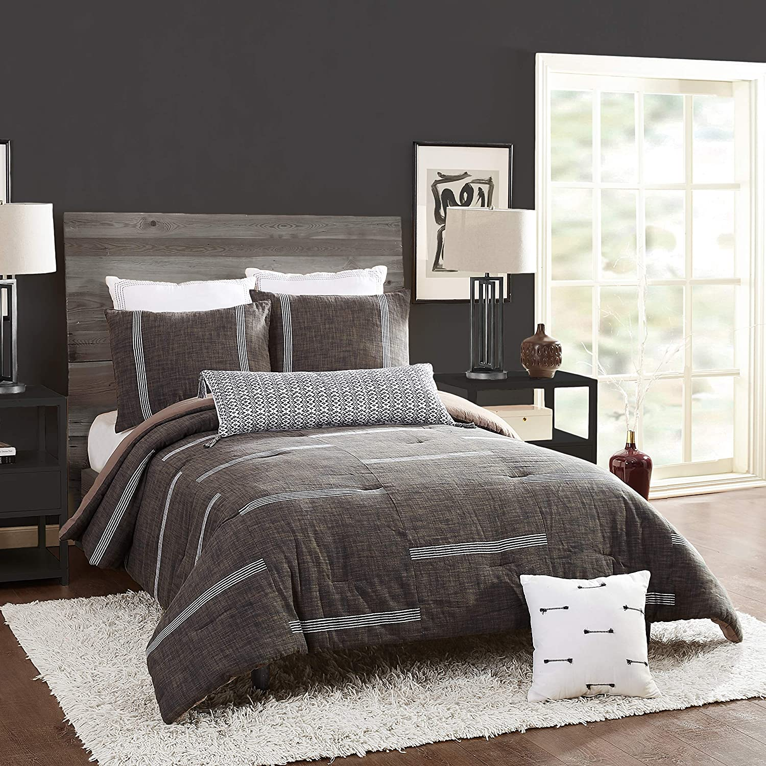 Ayesha Curry Zare Comforter King Limited Special Price Popular standard Gray Set