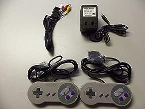 Super Nintendo SNES Controllers, AV cable, power adapter bundle