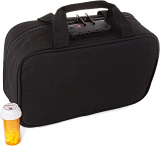 Medicine Safe LTB-1 TSA Approved Locking Toiletry Organizer and Medication Travel Bag for Men and Women, Small Carry On, N...