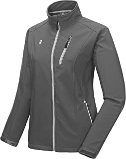 Women's Softshell Jacket with Removable Hood, Fleece Lined and Water Repellent