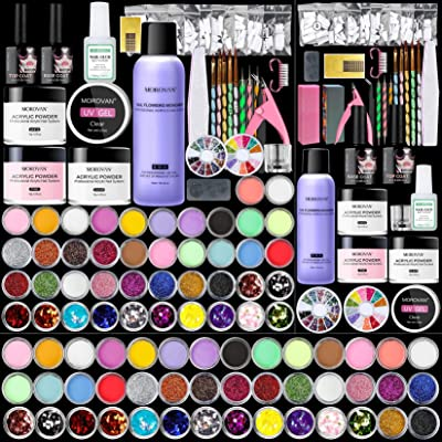 Morovan Acrylic Nail Kit - 42 Colors Acrylic Nail Powder