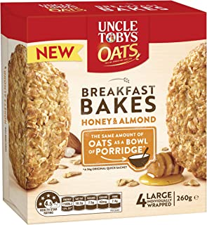Uncle Tobys Oats Breakfast Bakes Honey and Roasted Almond 260g