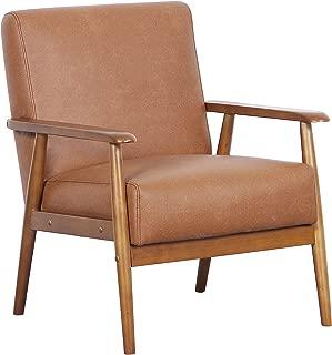 Pulaski DS-D030003-329 Wood Frame Faux Leather Accent Chair, 25.38