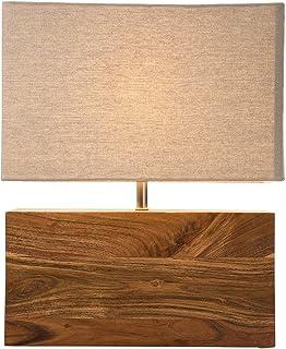 Kare Design 31798 Lampe de Table rectangulaire en Bois Naturel Hauteur 45,5 cm