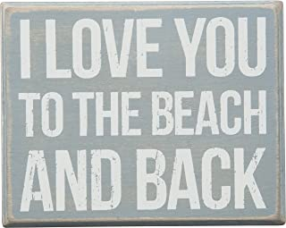 Primitives by Kathy I Love You to The Beach and Back Box Sign (27360)