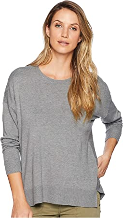 Long Sleeve Crew Neck with Ribbed Trim