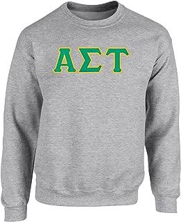 Alpha Sigma Tau Twill Letter Crewneck Sweatshirt