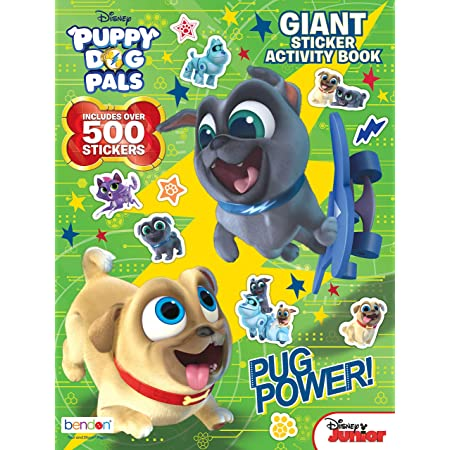Puppy Dog Pals Party Supplies Puppy Dog Pals Sticker and Tattoos Party Favors Super Set ~ Bundle Includes Over 200 Puppy Dog Pals Temporary Tattoos and Stickers