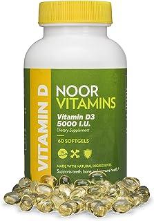 Sponsored Ad - NoorVitamins Vitamin D3 5000 IU Softgels I Supports Bone, Immune, Heart & Mood Health I Pure Vitamin D From...