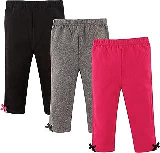 Baby Girls' Cotton Leggings, 3 Pack