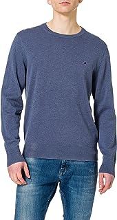 Tommy Hilfiger Organic Cotton Blend Crew Neck Sweater Homme