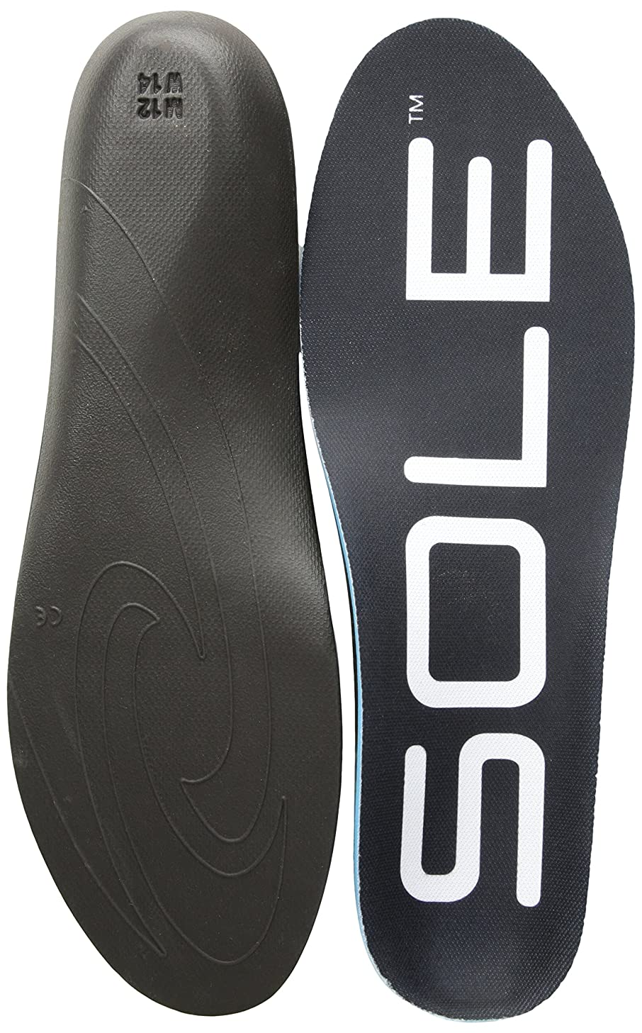 SOLE Active Thick High Volume Insert Insole for Men and Women Available in Regular, Wide, or Metatarsal Pad