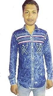 Denim Shirt with Lining Light Blue