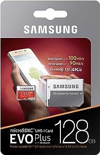 Samsung 128GB EVO Plus Micro SDXC C10/U3/4K R:100MB/s & W:90MB/s -MB-MC128GA