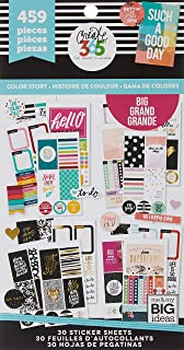 me & my BIG ideas Sticker Value Pack for Big Planner - The Happy Planner Scrapbooking Supplies - Color Story Theme - Mult...