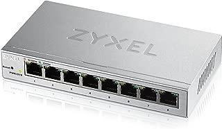 Zyxel 8-Port Gigabit Easy Web Managed Plus Switch, Sturdy Metal, QoS, WebGUI, Jubmo Frames, VLANs, DHCP Client, IGMP Snooping, Link Aggregation, [GS1200-8] (8-Port Smart Plus Web Managed)