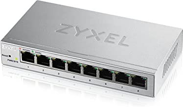 Zyxel 8-Port Gigabit Easy Web Managed Plus Switch, Sturdy Metal, QoS, WebGUI, Jubmo Frames, VLANs, DHCP Client, IGMP Snooping, Link Aggregation, [GS1200-8] (8-Port Smart Plus Web Managed)