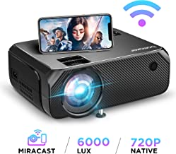 Wi-Fi Mini Projector, Upgraded 6000 Lux, Bomaker Portable Outdoor Movie Projector, Full..