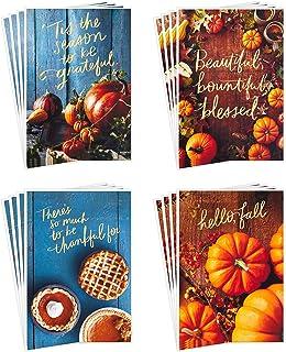 تشكيلة بطاقات عيد الشكر من هولمارك، هالو فال (16 بطاقة موسمية وفارغة مع مظروفات)