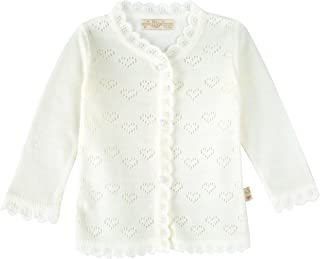 Aislor Infant Baby Girls Long Sleeve Lace Flower Cotton Knit Shrug Bolero Cardigan Sweater