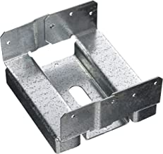 Simpson Strong Tie ABA66RZ 1 1 1 ZMAX Galvanized 14-Gauge 6-Inch by 6-Inch Rough Adjustable Post Base