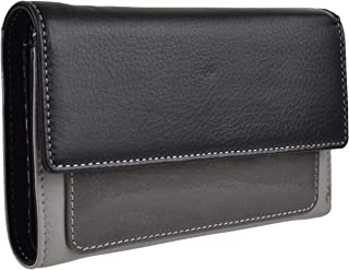 Women's Leather Mid Size Purse Wallet By Graffiti Gift Box Patent