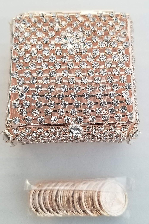 Elegant Arras Coin Set Wedding Embellished Rose Import Bo Crystals 35% OFF Gold