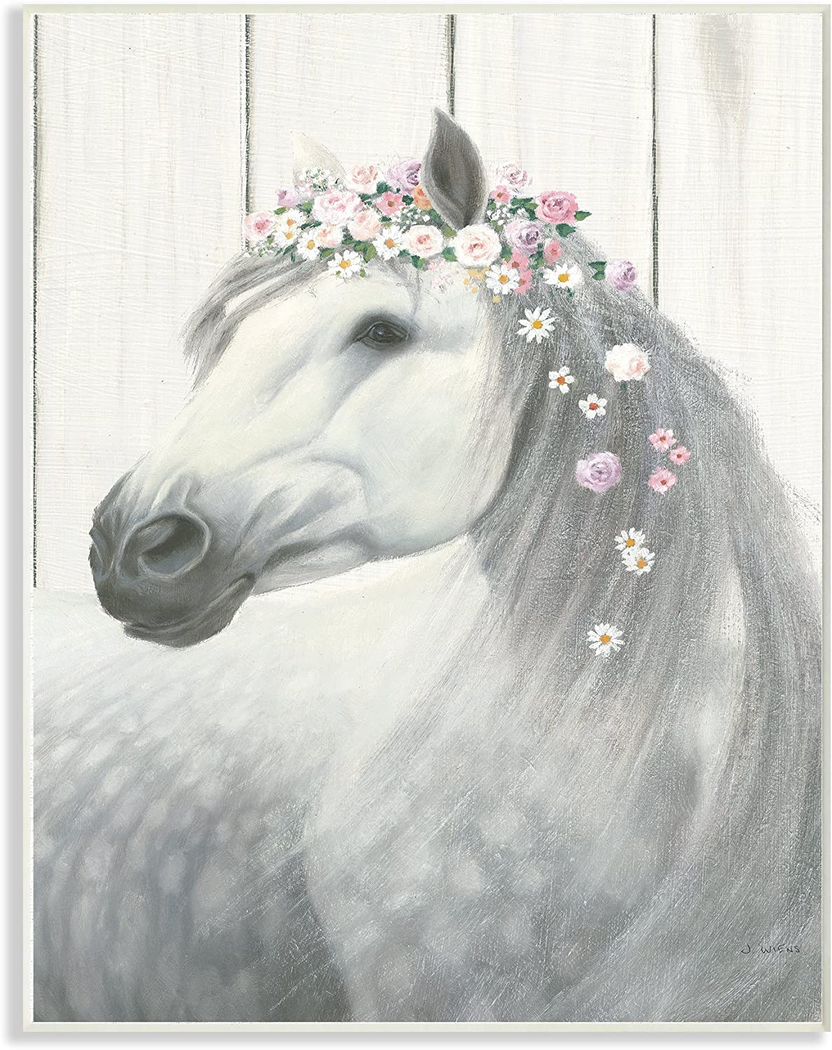 Stupell Industries Spirit Stallion Horse Overs with High quality new Bombing new work Crown Flower