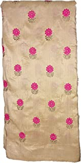 Stunning Collections Raw Silk with Embroidery Work Unstitched Material for Women