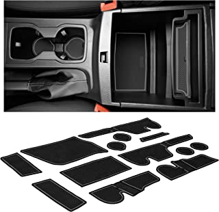 Custom Fit Cup, Door, Console Liner Accessories Kit for Ford Ranger 2019+ (Crew Cab, Gray Trim)