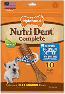 Nutri Dent Complete Adult Filet Mignon Small 10ct