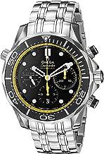 Omega 21230445001002 - Reloj Seamaster Sumergible coaxial automático, Esfera de Acero Inoxidable, Color Negro