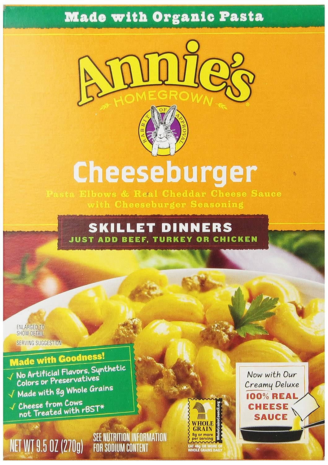Annie's Homegrown Skillet Meal, Cheeseburger, 9.5 Ounce