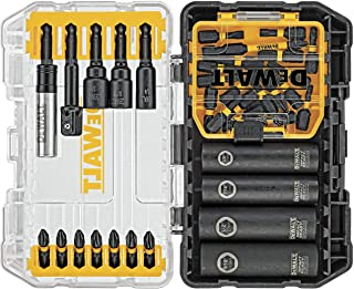 DEWALT Screwdriver Bit Set, Impact Ready, FlexTorq, 35-Piece (DWA2T35IR),Black/Silver