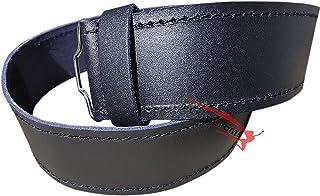 Scottish Highlander Black Leather Plain Kilt Belt