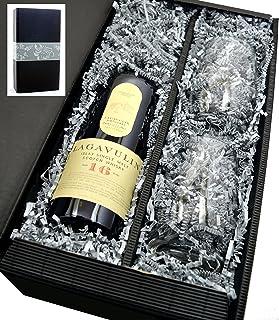 Lagavulin Singe Malt Scotch Whisky 16 Jahre 43% 0,7l mit 2 Tumbler Gläser in Geschenkkarton