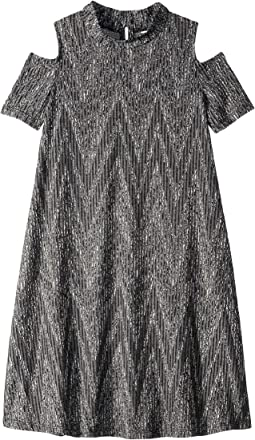 Rib Knit Dress w/ Cold Shoulder (Big Kids)