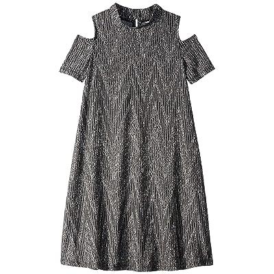 Maddie by Maddie Ziegler Rib Knit Dress w/ Cold Shoulder (Big Kids) (Grey) Girl