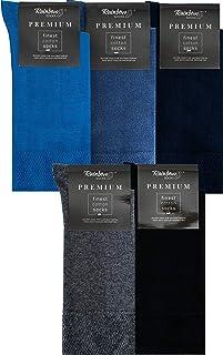 Rainbow Socks, Hombre Elegantes Calcetines Antibacterianos con Iones de Plata