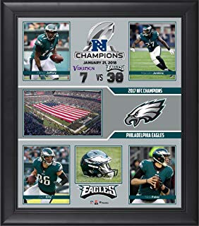 Philadelphia Eagles 2017 NFC Champions Framed 15'' x 17'' Collage - NFL Team Plaques and Collages