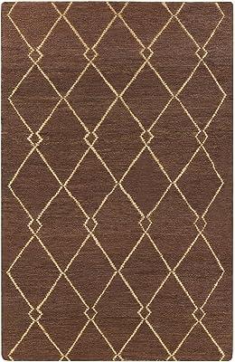 Surya Columbia Hand Woven Natural Fiber Area Rug, 5-Feet by 8-Feet