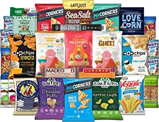 Gluten Free Snacks Assortment Care Package - Variety of Chips, Popcorn, Puffs, Bars, Nuts (28 Count)