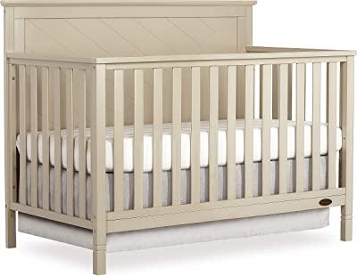 Dream On Me Skyline 5 In 1 Convertible Crib, Opal