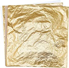 Hengker 100 Sheets Imitation Gold Leaf for Arts,Gilding Crafting,Decoration,5.5 by 5.5 Inches (Gold)