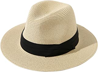 قبعة Lanzom للجنسين أطفال بنات أولاد الصيف سترو قبعة واسعة حافة مرنة شاطئ الشمس قبعة