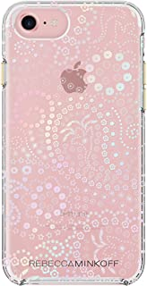 Rebecca Minkoff iPhone 7 Case, Double Up Designer Phone Case fits Apple iPhone 7 - Bandana Print Clear/Holographic Foil