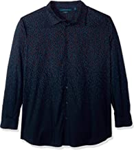 Perry Ellis Men's Big and Tall Stretch Print Shirt