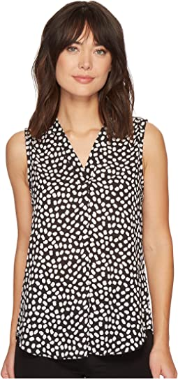 Vince Camuto - Sleeveless V-Neck Multi Dots Blouse