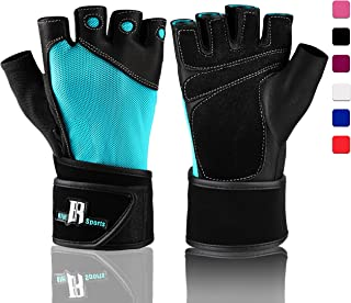 RIMSports Weight Lifting Gloves with Wrist Wrap - Best Lifting Gloves - Premium Weights Lifting Gloves, Rowing Gloves, Biking Gloves, Training Gloves, Grip Gloves